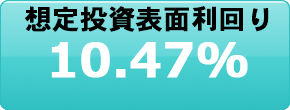 想定投資表面利回り10.47%