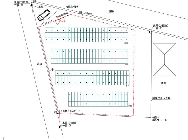 茨城県神栖市横瀬 95.040kw 売電単価19.80円!